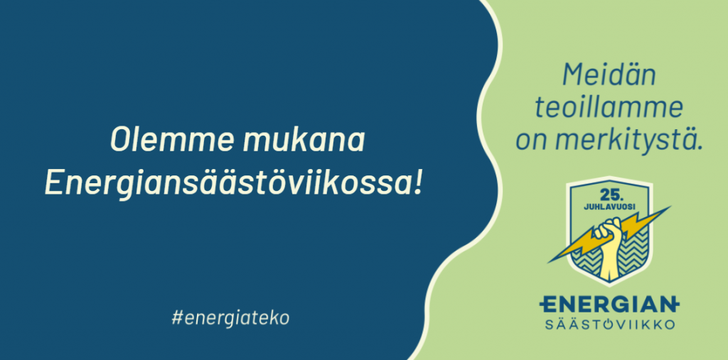 Olemme mukana Energiansäästöviikolla